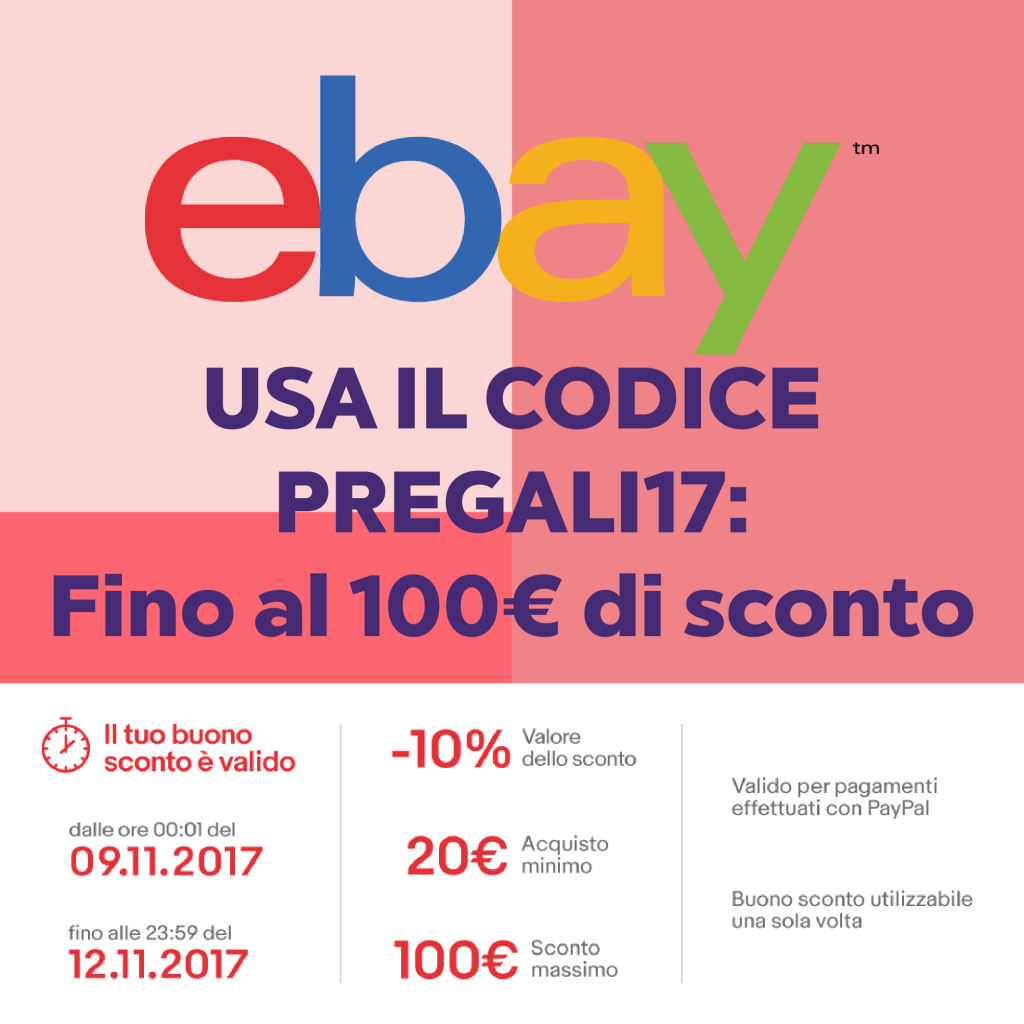 Regali First Minute: fino a 100€ di sconto su eBay