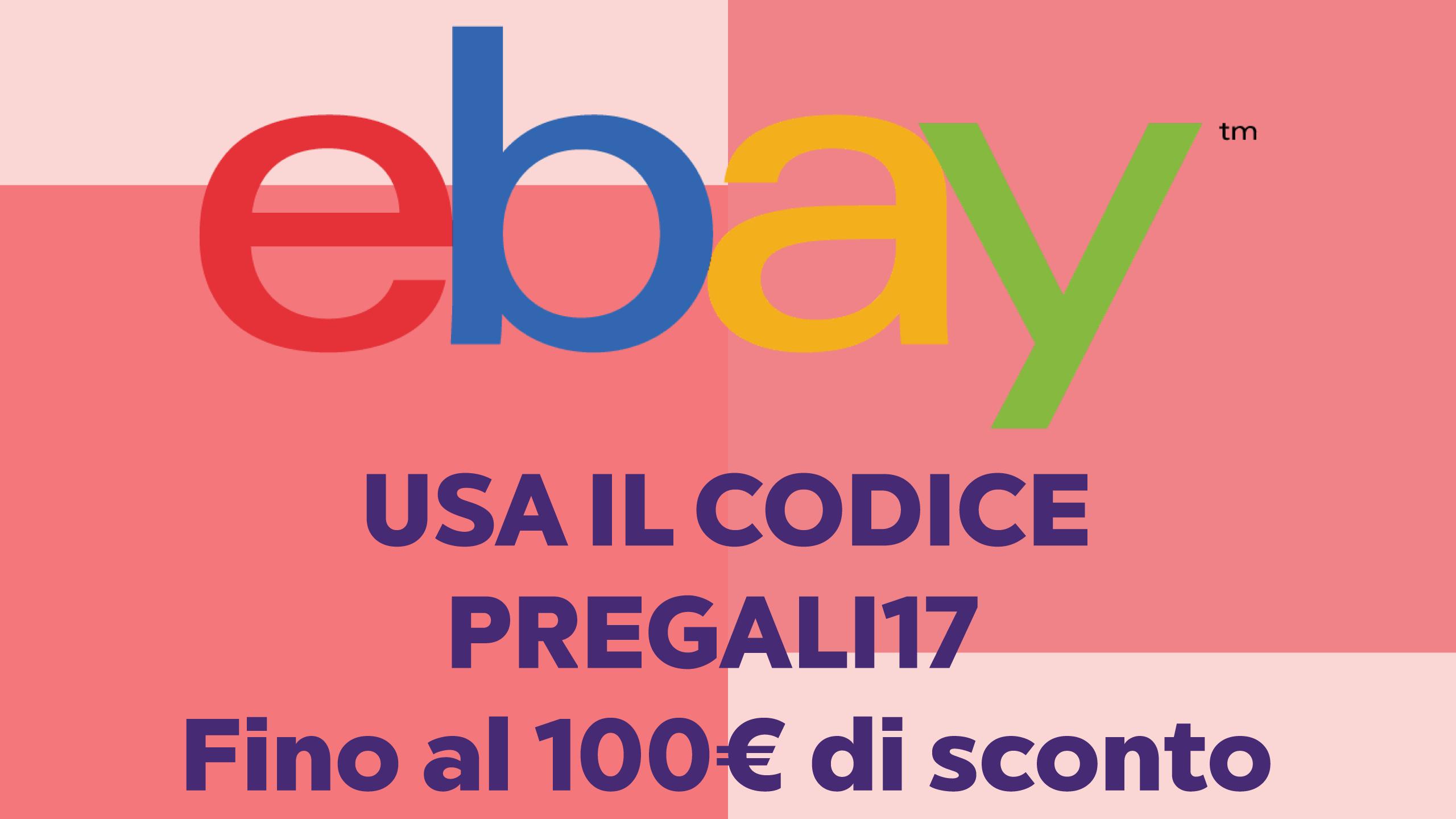 First Minute Geschenke: bis zu 100 € Rabatt auf eBay - MrDeals.it