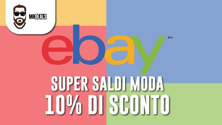 eBay, super saldi, 10%, moda