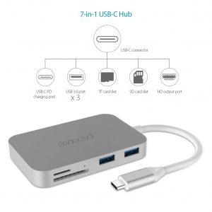 dodocool Hub USB Type C 7-in-1