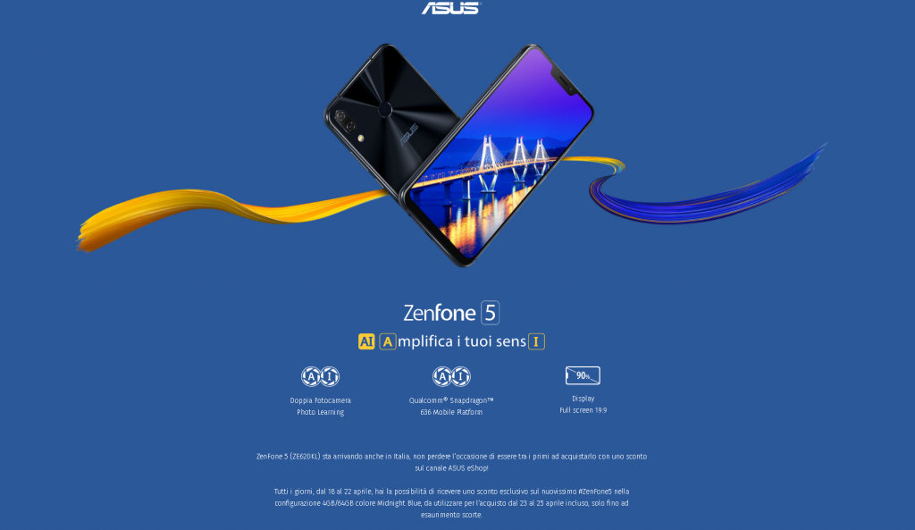 zenfone 5 promozione