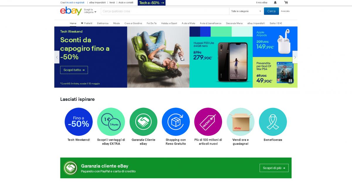 fim de semana da tecnologia de ebay
