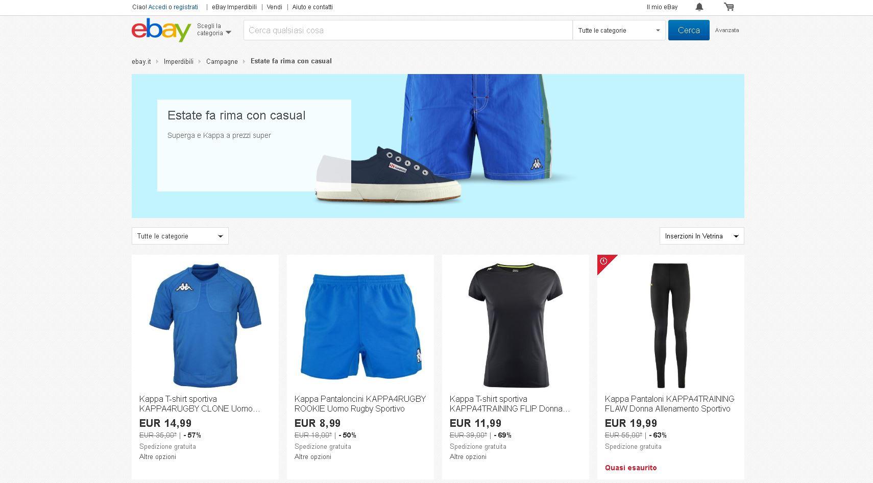 ebay kappa superga