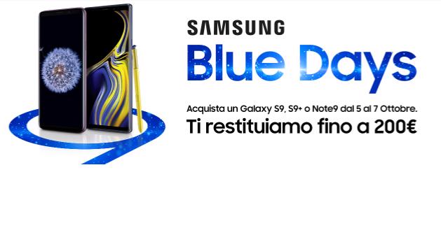Samsung Blue Days Samsung Galaxy Note 9 S9 S9+
