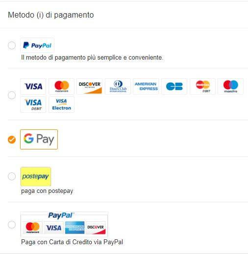 come pagare con google pay su gearbest