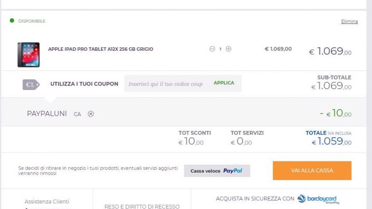 Buono sconto PayPal » Fino al 10% Codice Sconto PayPal
