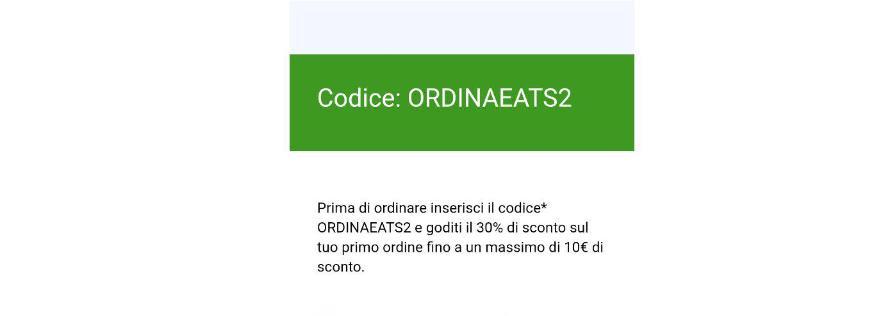 codice sconto ordinaeats2 uber eats