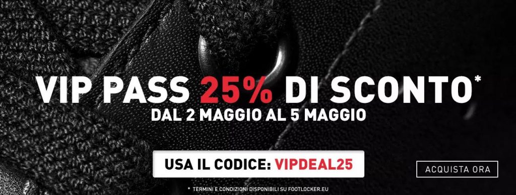 foot locker vipdeal25 discount code