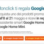 google home mini omaggio