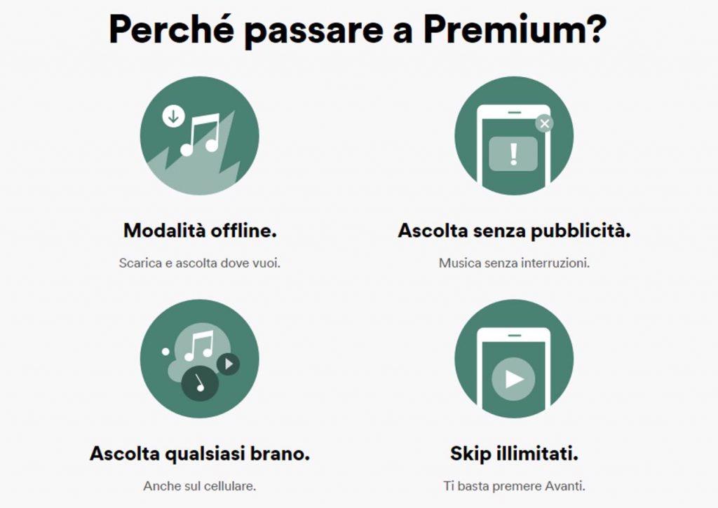 spotify premium 3 mesi perché