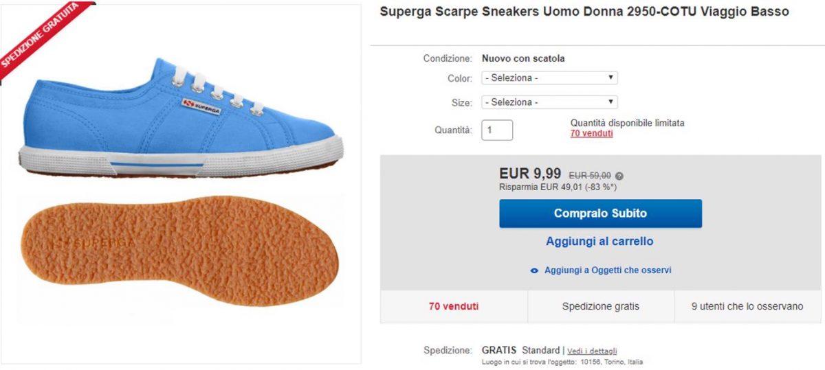 superga offerta 9 euro