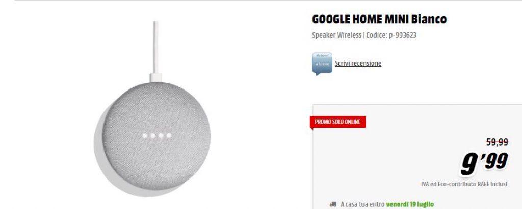 google home mini bianco