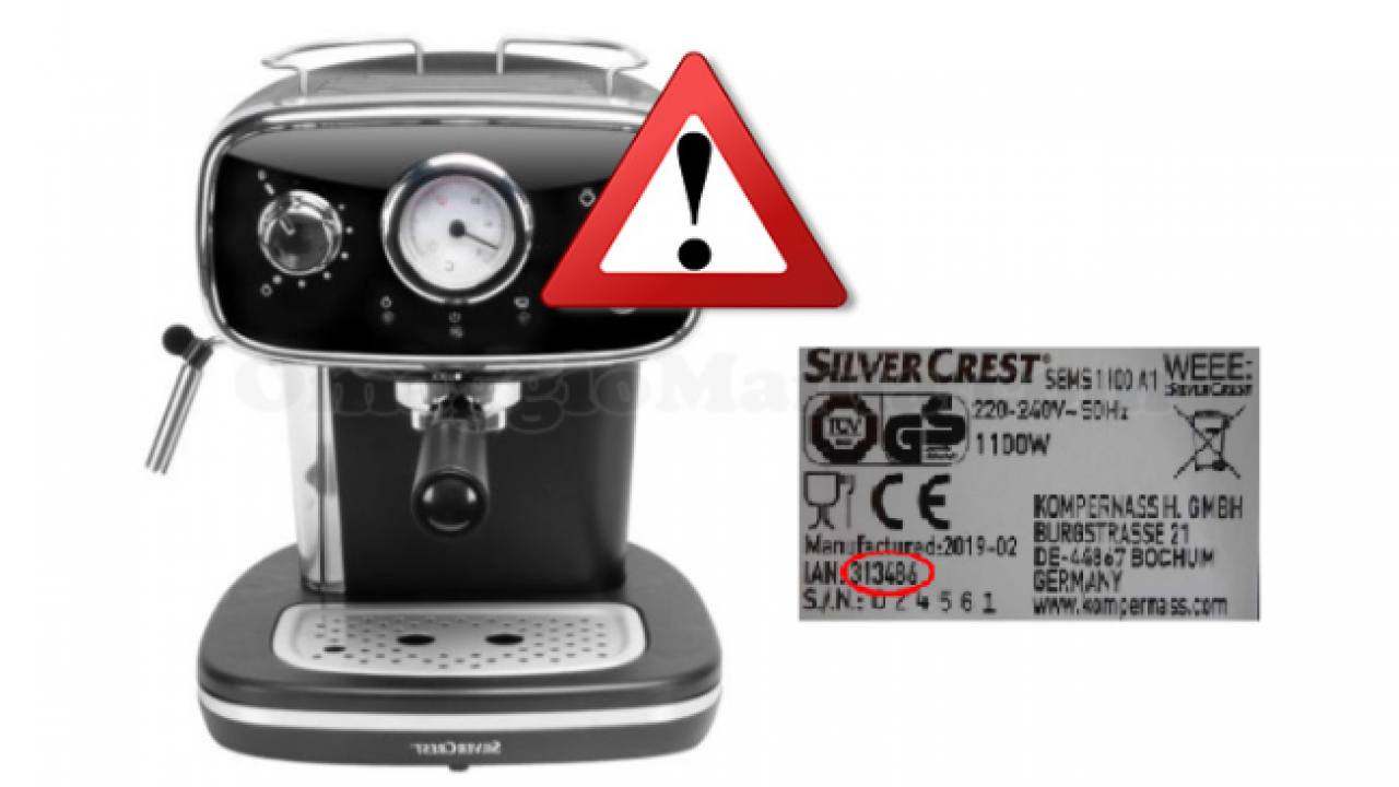 Lidl Silvercrest Coffee Machine Withdrawn From The Market