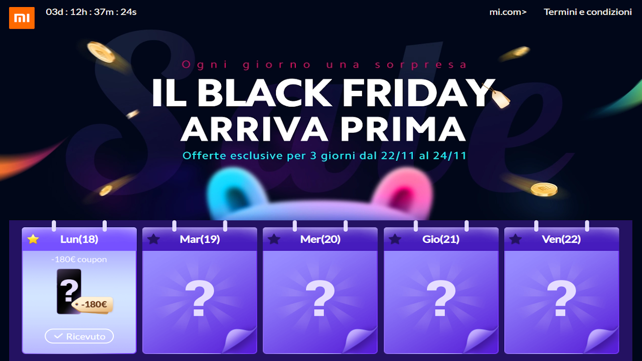black friday offerte xiaomi mi store
