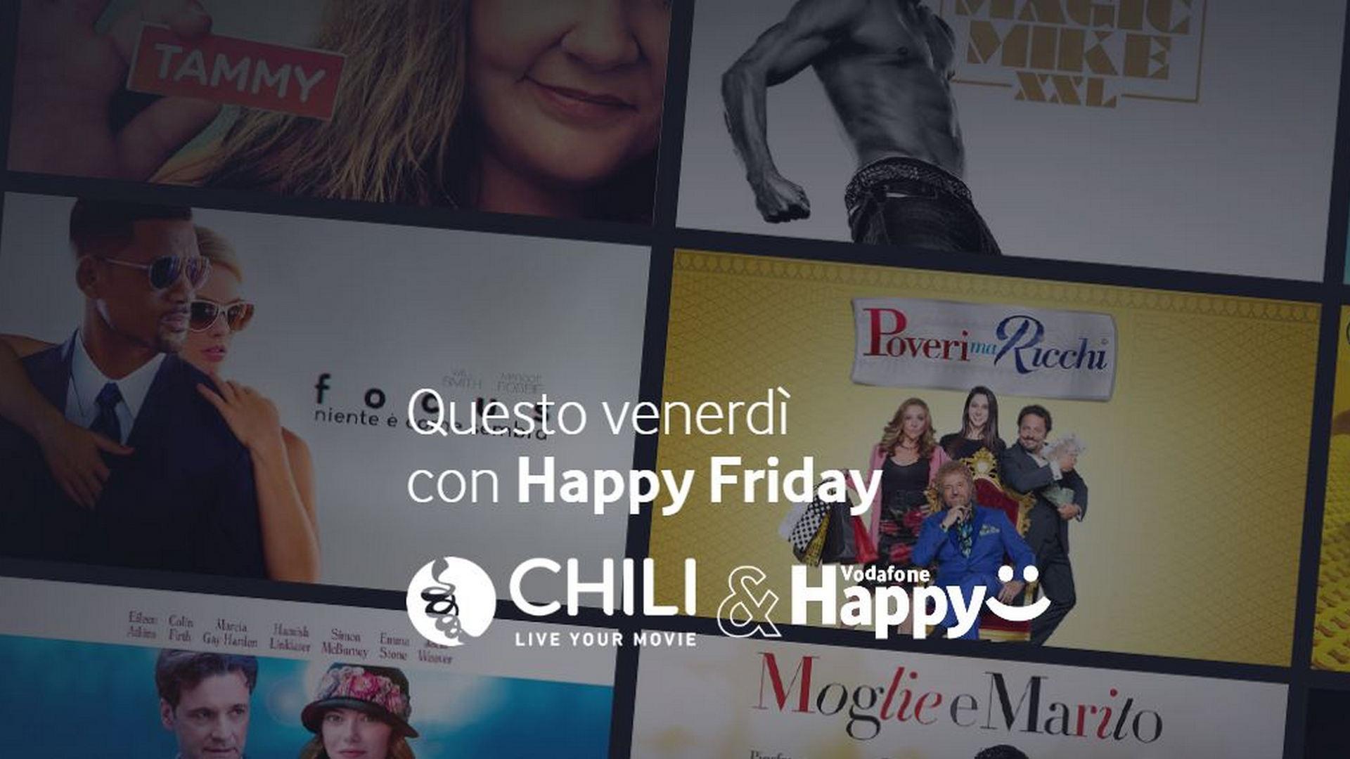 Vodafone Happy Friday regala un buono Chili da 10€ | 27 Marzo ...