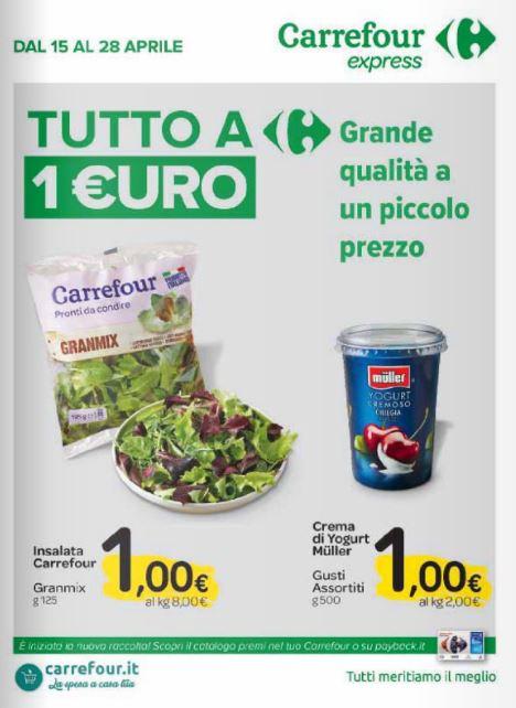 Carrefour Tavoli Da Giardino.Volantino Carrefour Tutto Ad 1 Le Offerte Dal 15 Al 28 Aprile