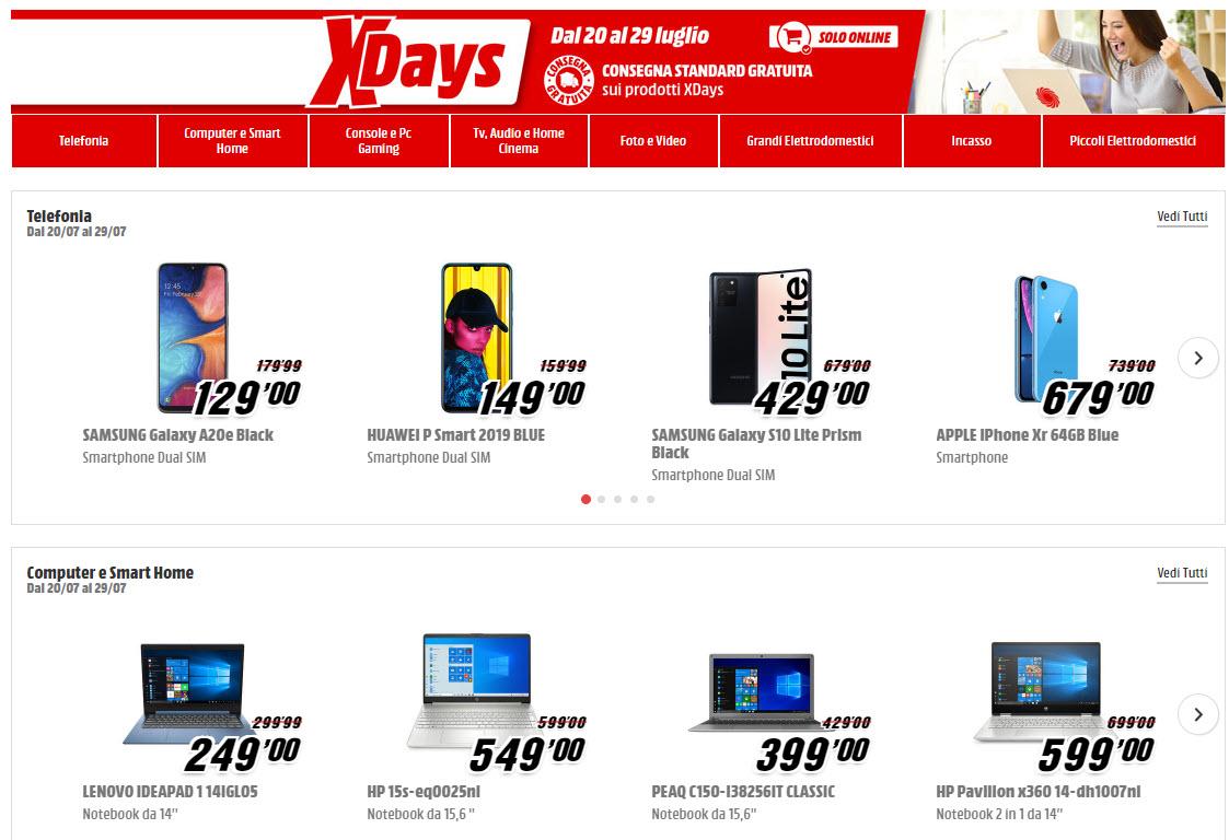 MediaWorld XDays 20 29 luglio