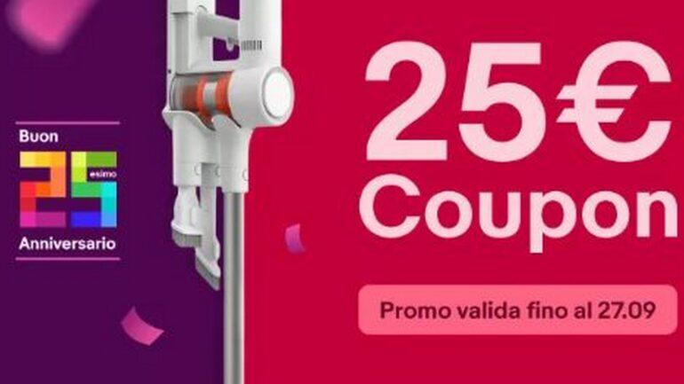ebay coupon 25 anni sconto dyson aspirapolvere asciugacapelli piastra