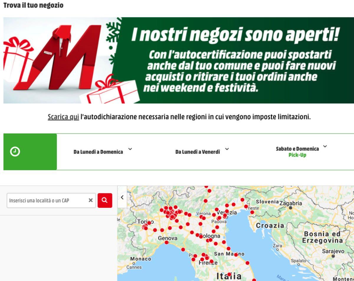 mediaworld store italia