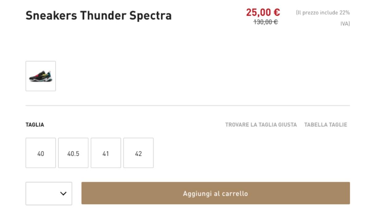 offerta sneakers puma thunder spectra