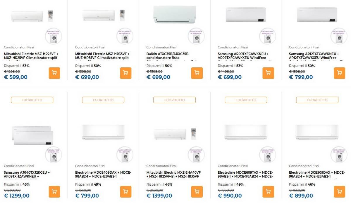 unieuro offerte climatizzatori regalo anticipa estate