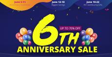 6th Anniversary GeekBuying: العديد من المنتجات المعروضة للبيع!