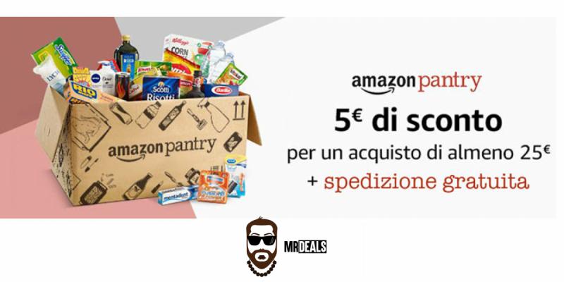 Amazon Pantry: 5€ di sconto + spedizione gratuita