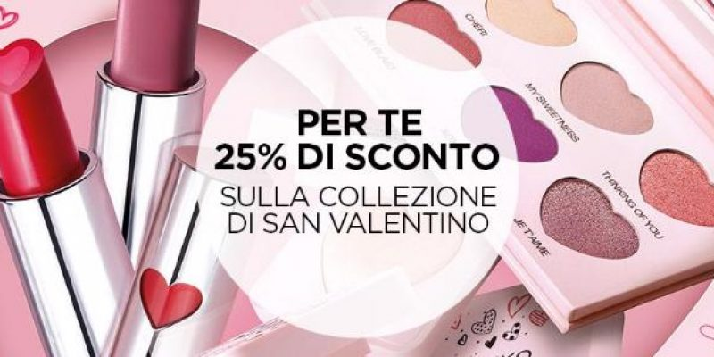 Promo Online KIKO: 25% di sconto sulla collezione di San Valentino