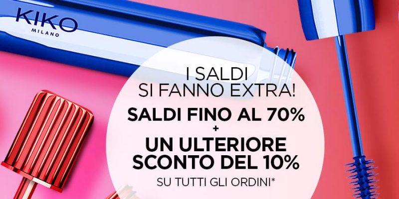 KIKO, i saldi si fanno Extra: 70+10% di sconto per acquisti Online