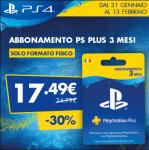 PlayStation Plus: abbonamento trimestrale scontato del 30% da GameStop