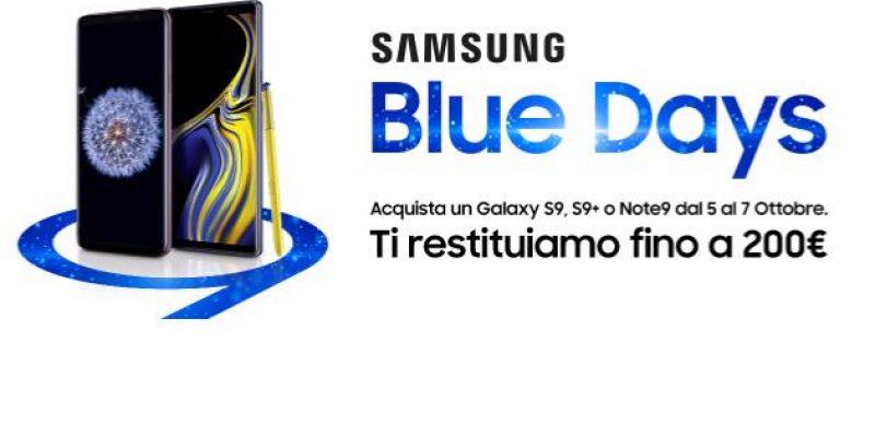 Domani al via i Blue Days di Samsung: fino a 200€ di sconto sulla serie Galaxy