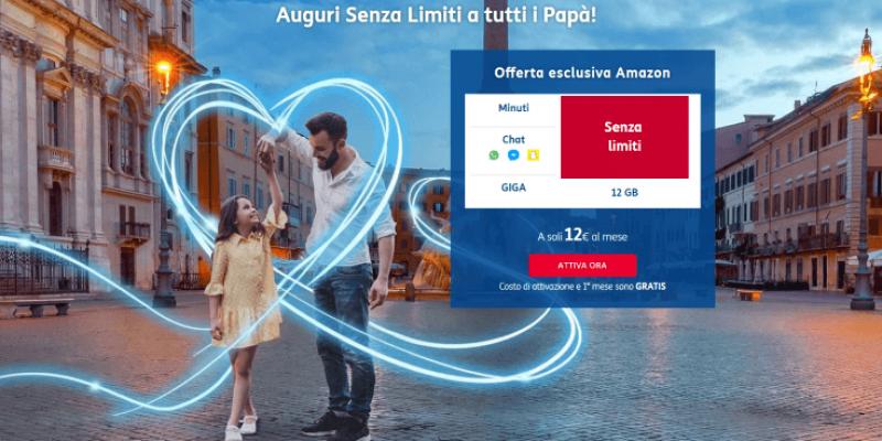 TIM Senza Limiti Silver 12 Giga Promo Amazon: il regalo di Amazon per tutti i papà