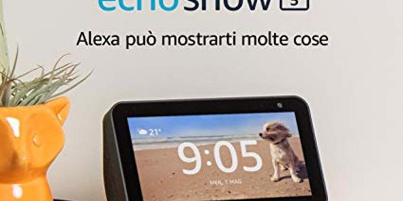 Amazon Echo Show 5 in sconto di 40€, ma con una procedura singolare