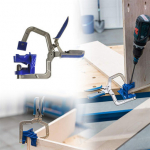 Offerta del giorno! Auto-adjustable 90 Degree Corner Clamp Face Frame Clamp Woodworking Clamp