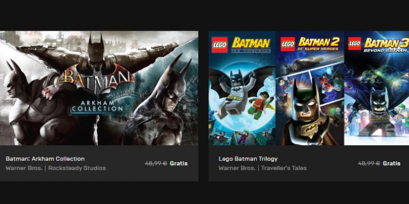 Scarica gratis 6 giochi di Batman con Epic Games: risparmi fino a 98€