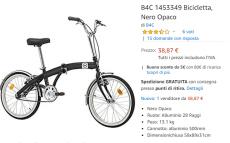 Bicicleta dobrável 38 €: erro de preço na Amazon!