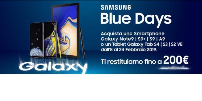 Unieuro partecipa ai Blue Days Samsung: ecco gli sconti fino a 200€