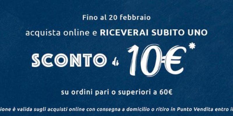 Carrefour: acquista Online e riceverai subito uno sconto di 10€
