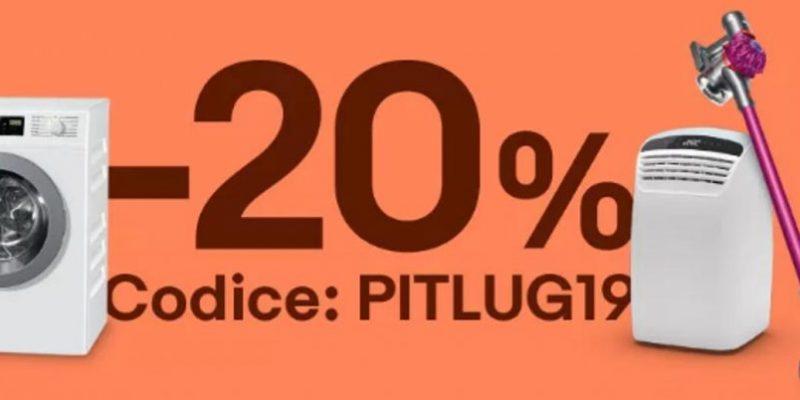 eBay: -20% Extra grazie al coupon PITLUG19