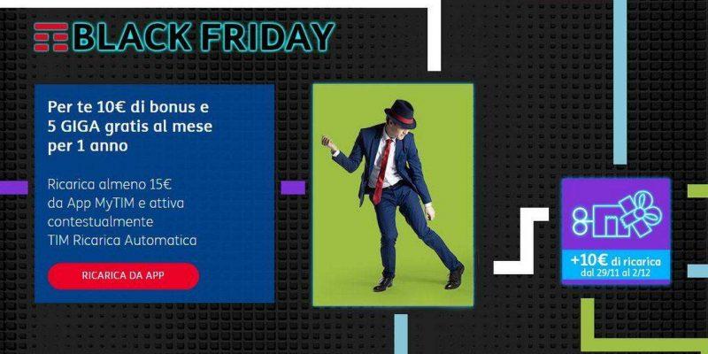 Per il Black Friday, TIM regala 10€ di credito gratis ricaricando con MyTIM