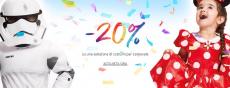 Approfitta dei saldi di carnevale Disney: costumi scontati del 20%