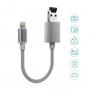 dodocool Cavo lightning - USB A con slot micro SD