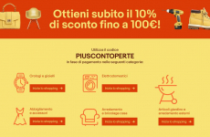 eBay: ottieni fino a 100 euro di sconto su alcune categorie con il coupon PIUSCONTOPERTE!