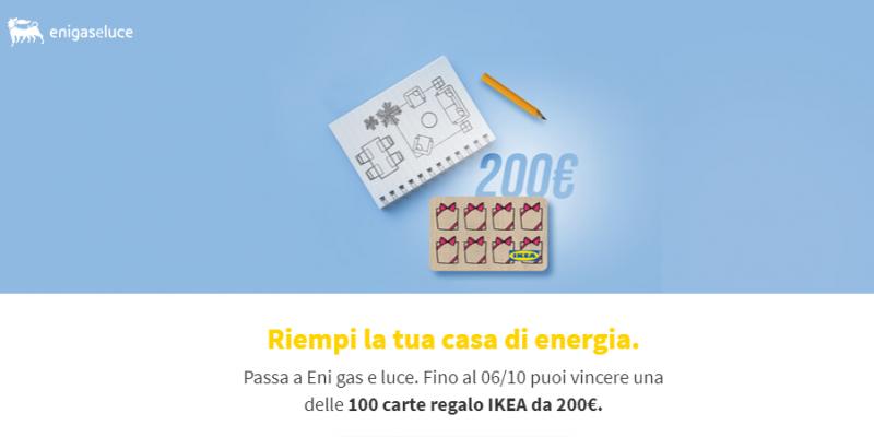 Ricevi gratis un buono IKEA da 200€ con Eni Gas e Luce