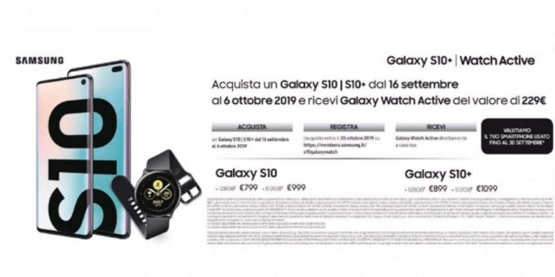 Galaxy Watch Active in regalo: approfitta della promo Samsung