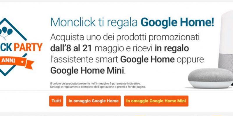 Google Home e Google Home Mini in omaggio con un acquisto: ecco come fare