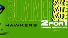 Hawkers 2 × 1: compre dois produtos e o mais barato 2 ° é grátis!