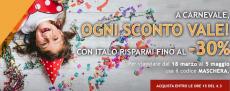 Italo: approfitta del codice sconto per Carnevale e risparmia fino al 30%