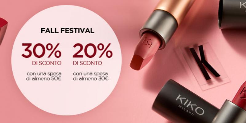 KIKO Fall Festival: sconti fino al 30% su tutto il catalogo