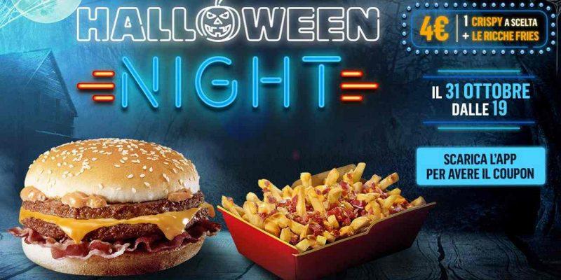 McDonald's Halloween Night: panino Crispy e patatine Cheese e Bacon a soli 4€